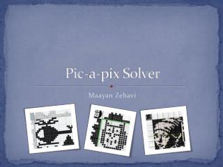 Pic-a-pix Solver