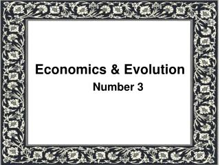 Economics & Evolution