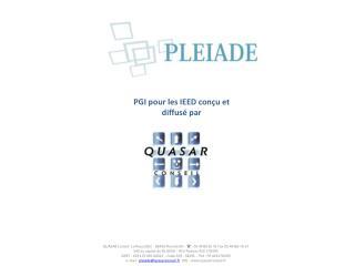 PGI pour les IEED conçu et diffusé par