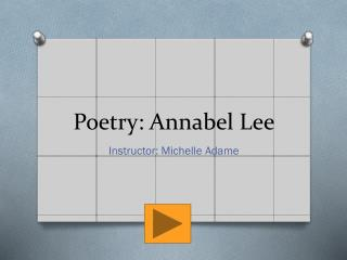 Poetry: Annabel Lee