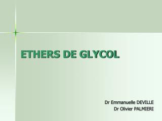 ETHERS DE GLYCOL