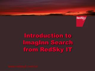 Introduction to  ImagInn Search  from RedSky IT