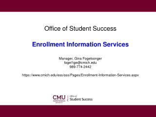 OSS � Enrollment Information Services