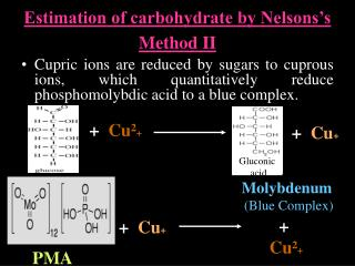 Estimation of carbohydrate by Nelsons's Method II