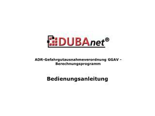 ADR-Gefahrgutausnahmeverordnung GGAV - Berechnungsprogramm