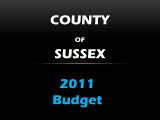 County of Sussex