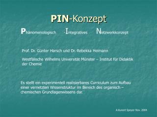 PIN -Konzept