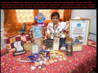 9 Year old Indian boy's World Record-PCN