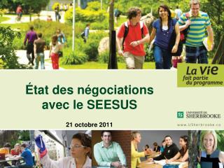 État des négociations  avec le SEESUS 21 octobre 2011