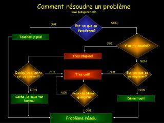 Comment résoudre un problème pedagonet