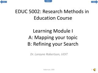 Dr. Lorayne Robertson, UOIT