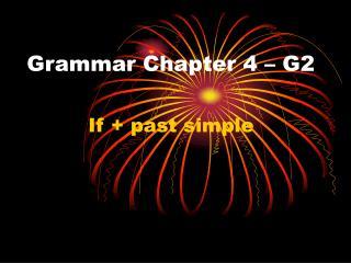 Grammar Chapter 4 – G2