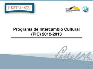Programa de Intercambio Cultural (PIC) 2012-2013