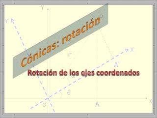Cónicas: rotación