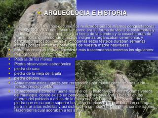 ARQUEOLOGIA E HISTORIA