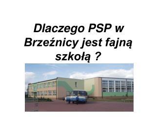 Dlaczego PSP w Brzeźnicy jest fajną szkołą ?