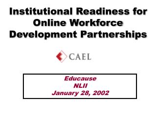 Institutional Readiness for Online Workforce Development Partnerships