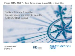 Equity, efficiency & quality. Considerations and insights from the EUROSTUDENT project