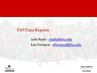 EWI Data Reports