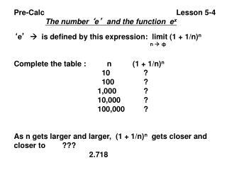 Pre-Calc                                                               Lesson 5-4