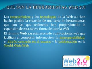 Que son la herramientas web 2.0