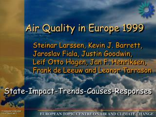 Air Quality in Europe 1999