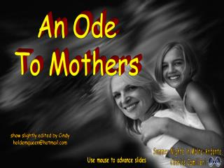 An Ode To Mothers
