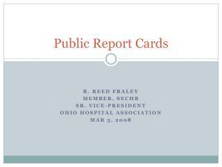 Public Report Cards