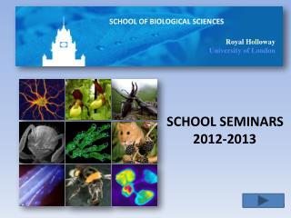 SCHOOL SEMINARS         2012-2013