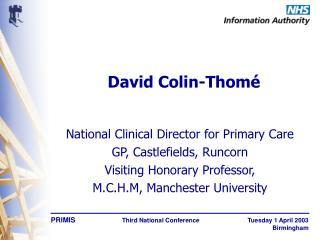 David Colin-Thom é