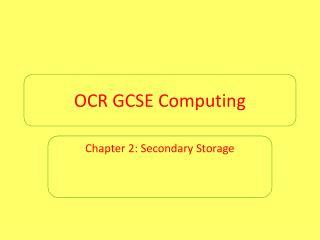 OCR GCSE Computing