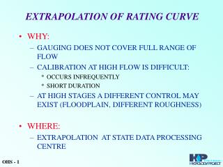 EXTRAPOLATION OF RATING CURVE