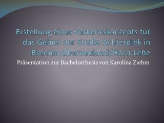Präsentation zur Bachelorthesis von Karolina Ziehm