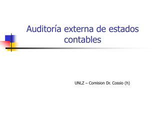 Auditor�a externa de estados contables