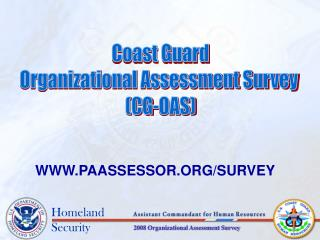 Coast Guard Organizational Assessment Survey  (CG-OAS)