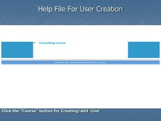Help File For User Creation