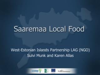 Saaremaa  Local Food