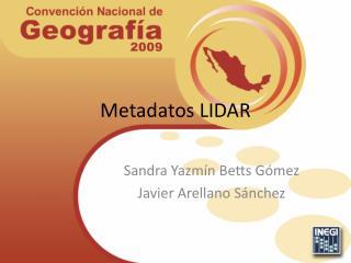 Metadatos LIDAR