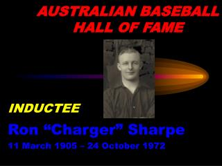 AUSTRALIAN BASEBALL HALL OF FAME