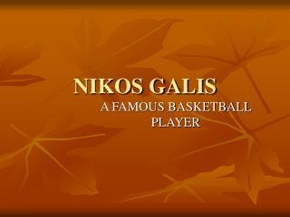 NIKOS GALIS