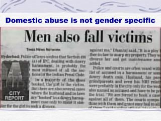 Domestic abuse is not gender specific