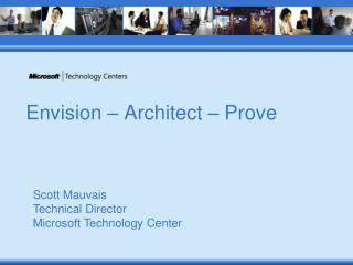 Envision – Architect – Prove