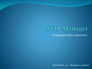 NEO   Manager