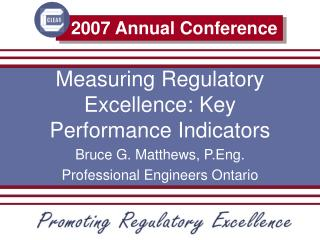 Measuring Regulatory Excellence: Key  Performance Indicators