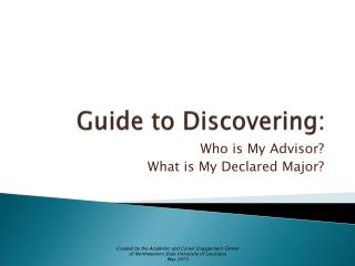 Guide to Discovering:
