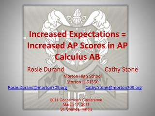 Increased Expectations = Increased AP Scores in AP Calculus AB