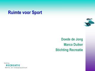 Ruimte voor Sport