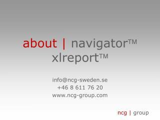 about |  navigator  xlreport