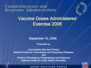 Vaccine Doses Administered Exercise 2008