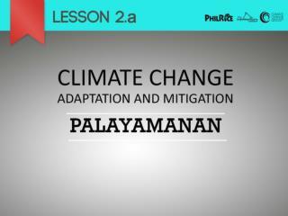 Adaptation          Mitigation